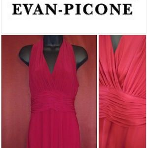 💚 Evan Picone red dress